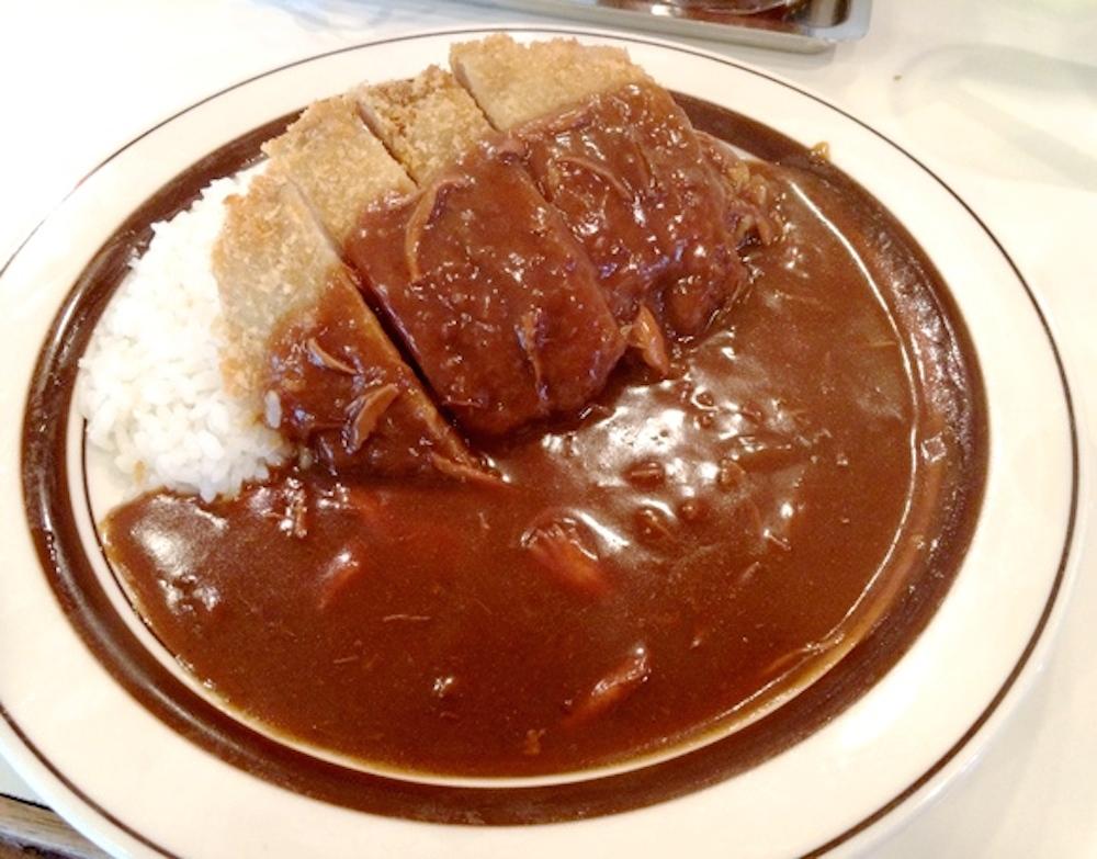 カレーを食べました。(カツカレー500円)