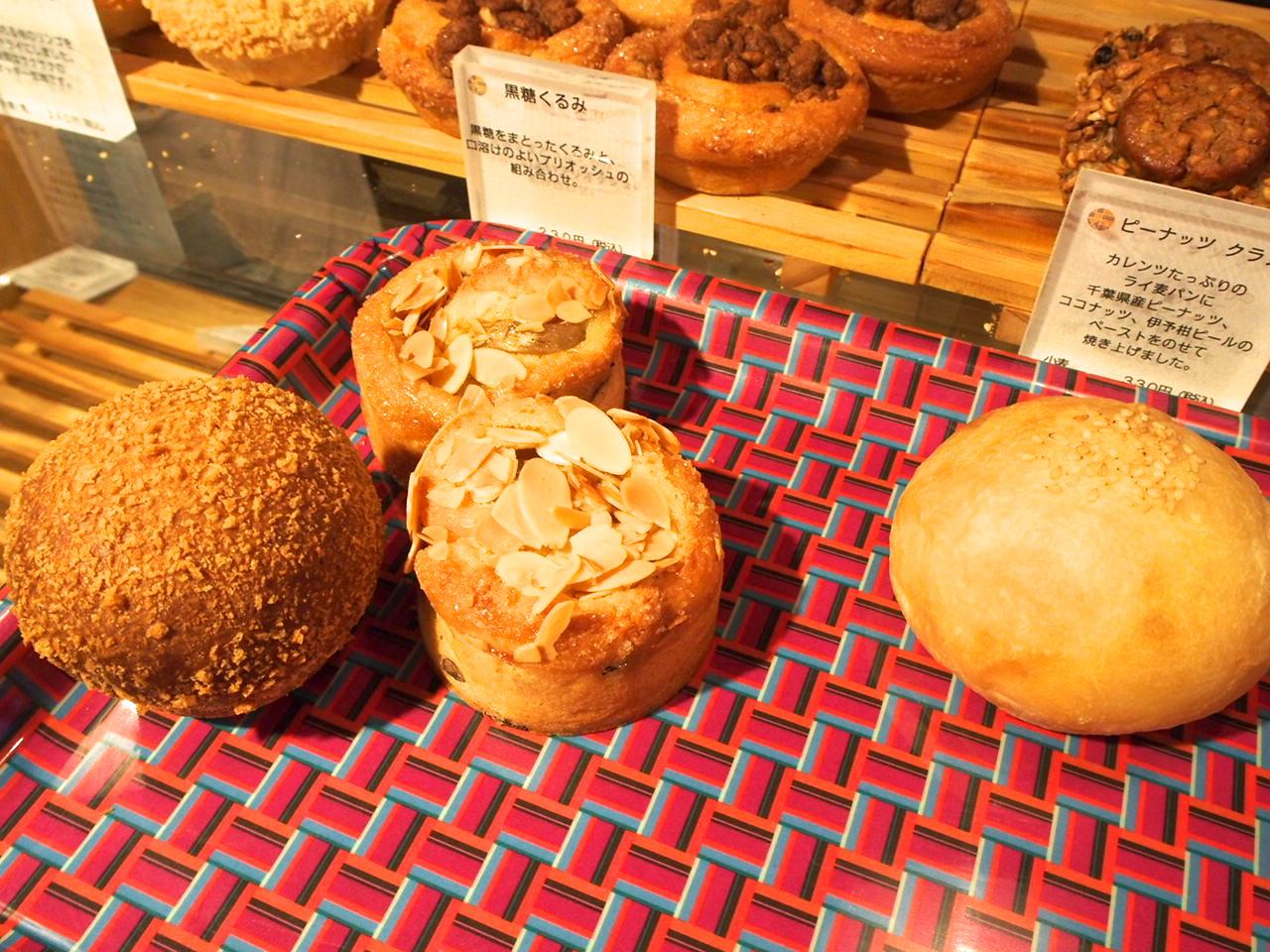 白こしあんパンと夏野菜のカレーパンとバナナと夏みかんのタルト
