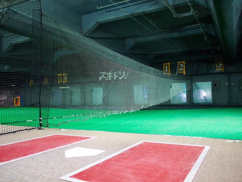 バッティングセンターになっていて、硬球を打つこともできます。