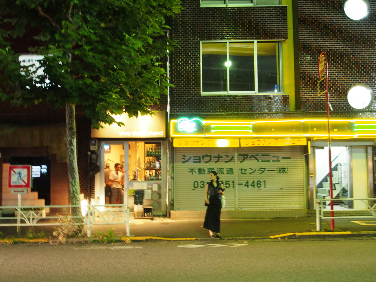 vivo daily standはおなじみ ここも近所の常連さんが夜な夜な集う