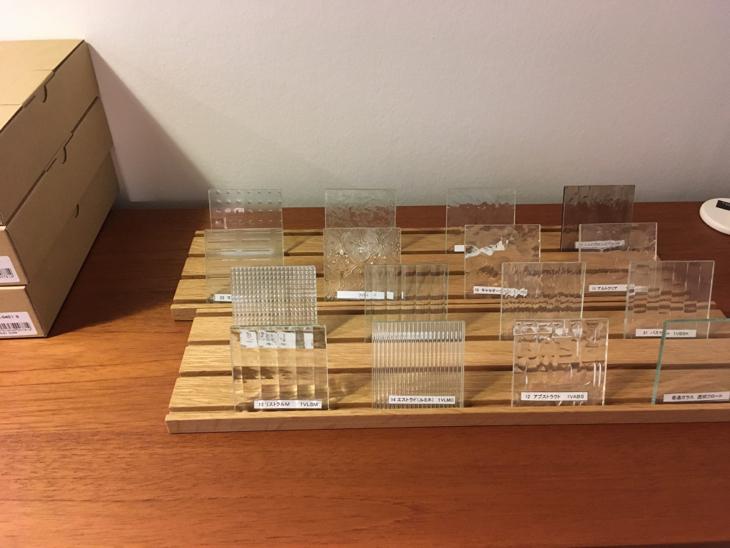 ガラス材のサンプル