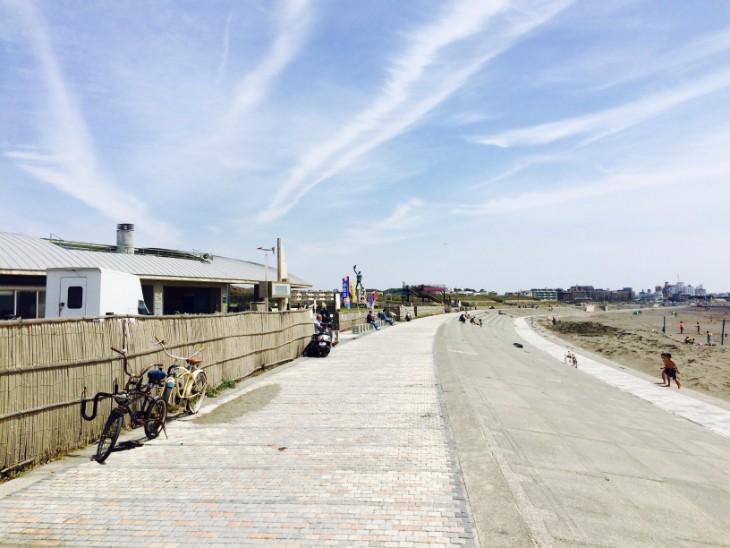 海を見ながらサイクリング。