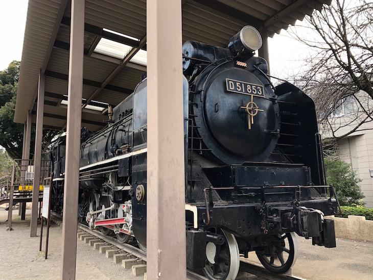 蒸気機関車D51も展示されています。