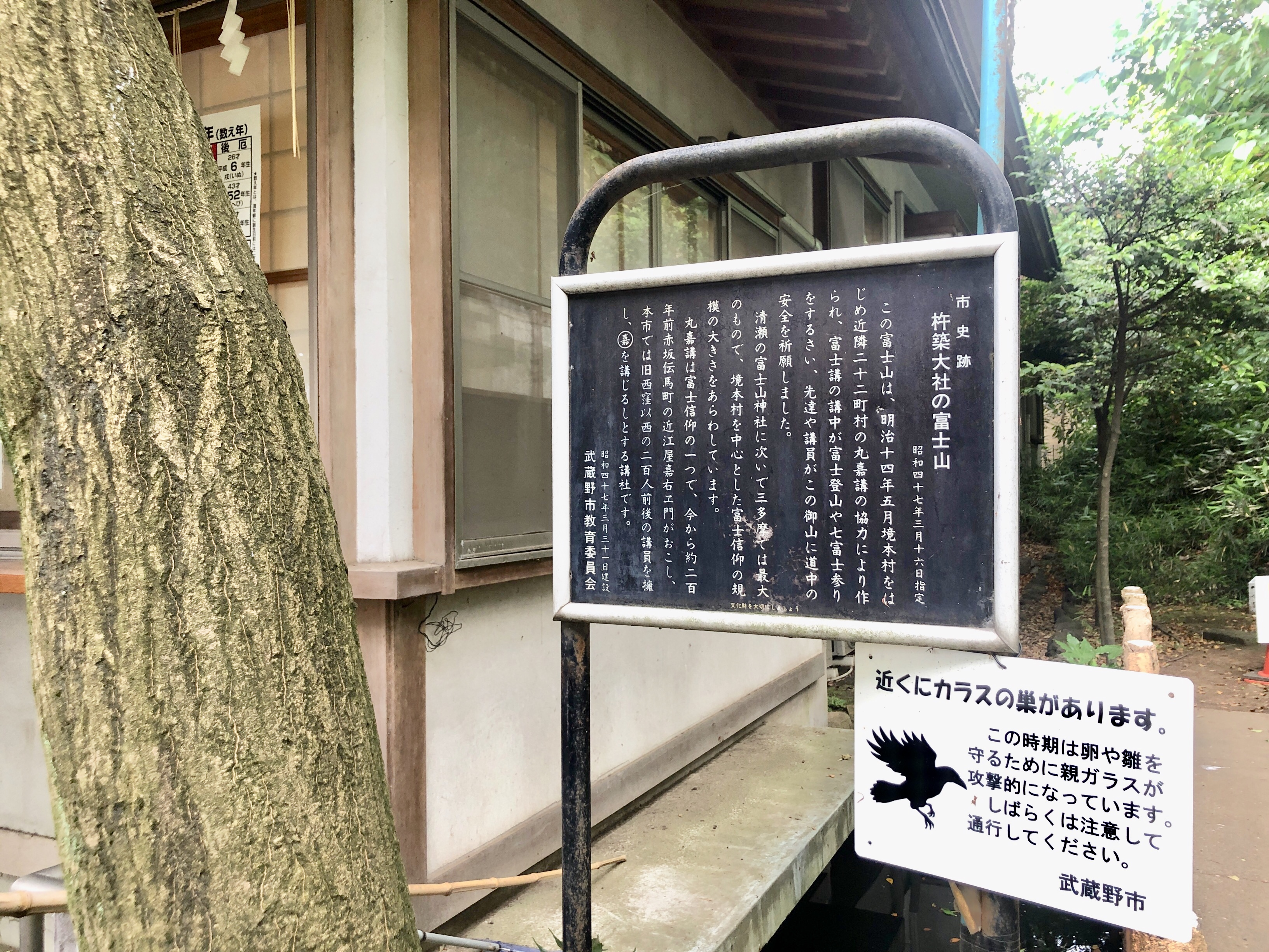 富士塚についての説明が書いてあります。(歴史苦手女子には少々難しい…)